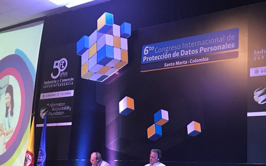 Vanegas Morales presente en el 6o Congreso Internacional de Protección de Datos organizado por la SIC