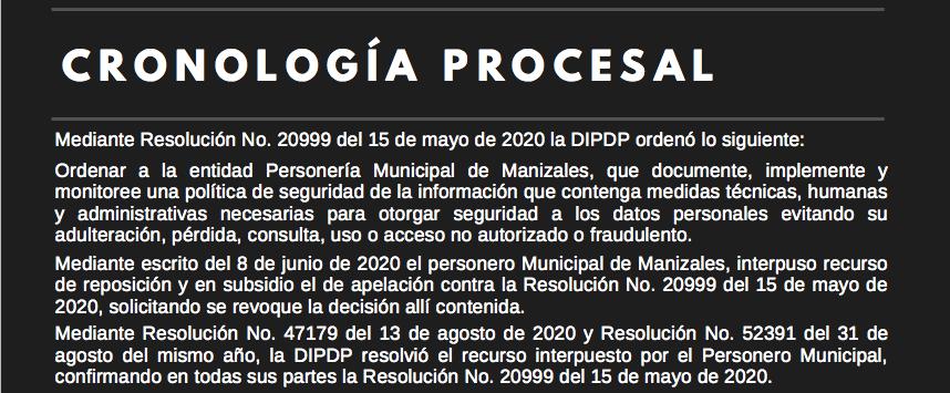 La SIC ordenó a la Personería de Manizales cumplir con estándares de Seguridad de la Información Bloga Vanegas Morales Consultores Bogotá Colombia
