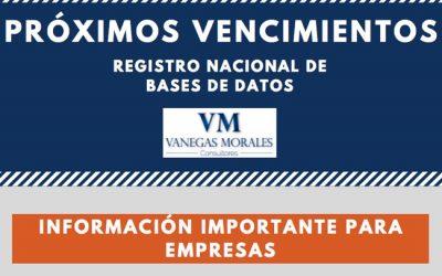 Vanegas Morales Consultores a su disposición para el registro, actualización y revisión del estado de registro de sus bases de datos
